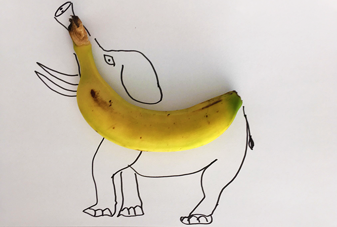 Ejercicio de analogías con plátano