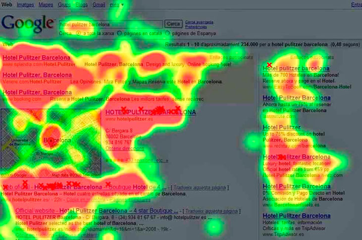 mapas de calor eye tracking